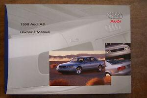 1998 audi a8 owners manual parts service new original ebay rh ebay com 2011 Audi A8 Lowered 1998 Audi A8 Lights