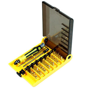 45 in 1 torx hex precision screwdriver set for watch cell phone laptop repair ebay. Black Bedroom Furniture Sets. Home Design Ideas