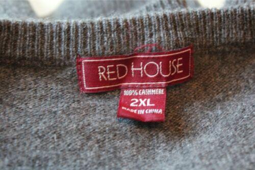 Xxl 2xl Maglione Mens Cashmere Grigio Red House rXq77YxwE