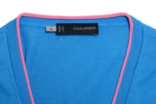 Dsquared2 Cardigan Pull Bleu Us 54 It Xl Boutonné Homme rHzrwxnpq