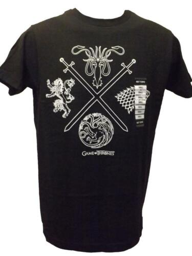 """New Game of Thrones GOT /""""4 Houses/"""" Mens S-L-XL-2XL Licensed Shirt"""