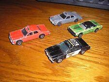 Vintage Lot of 4 1980's Hot Wheels 4 door sedans police fire chiefs crash cars