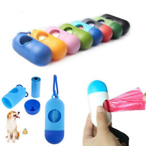 Portable-Dog-Pet-Pick-Up-Waste-Poo-Bag-Holder-Roll-Poop-Refil-Pouch-Dispenser