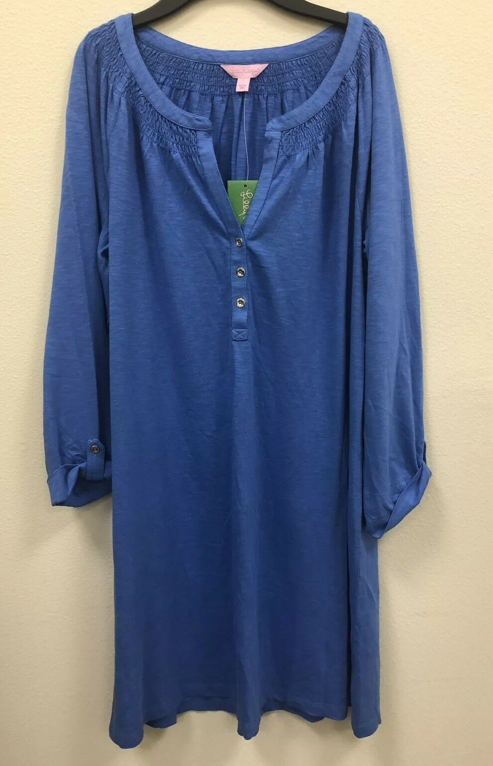NWT   Lilly Pulitzer Essie Dress Long Sleeved Bennet bluee Size Large