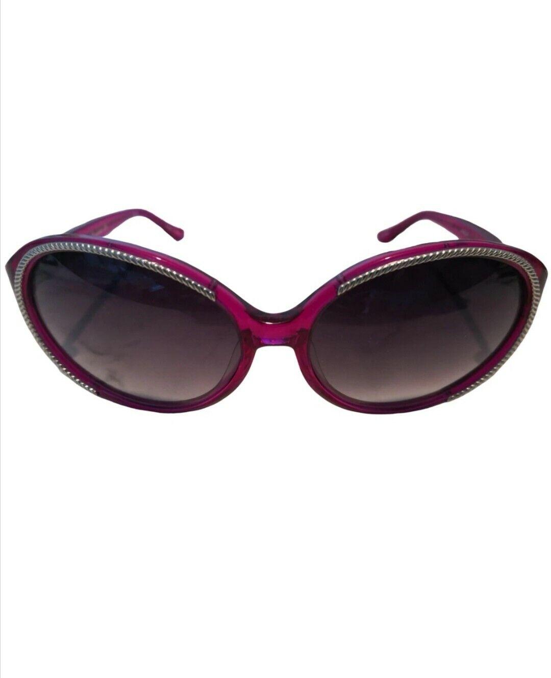Agent Provocateur x Linda Farrow Diseñador Gafas De Sol Hecho en Japón Fucsia Nuevo Y En Caja