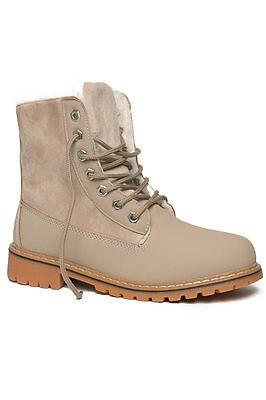 Damen Winter Stiefel Warm Warm Worker Boot Schuh Winterschuh Stiefeletten