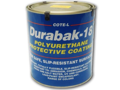 Durabak18 Textured-Gal-Non Slip Boat Deck Bedliner Construction-AVOCADO GREEN