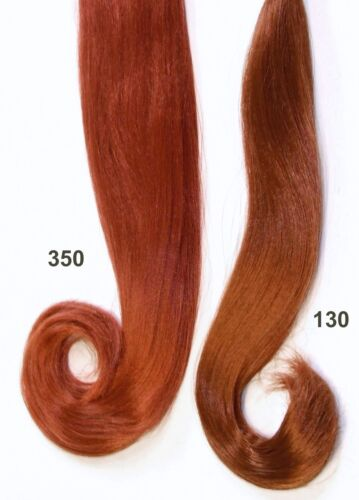 "Ginger Color #350 Long 23/"" Tail Synthetic Hair for Restoring Dolls"
