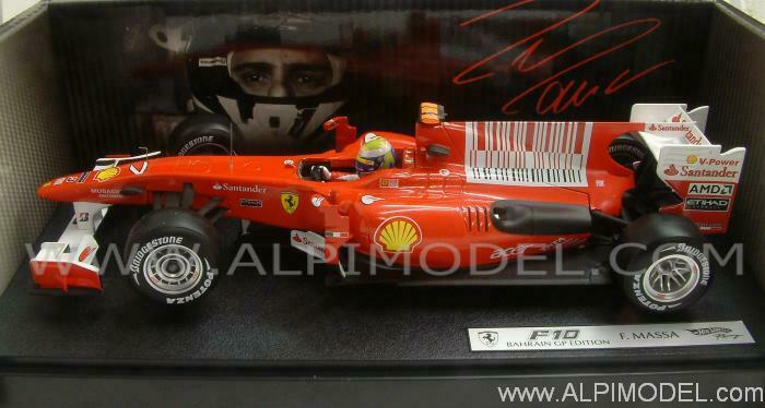 Ferrari F10 GP Bahrain 2010 Felipe Massa 1 18 HOT WHEELS T6288