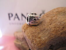 Genuine Pandora Silver  I LOVE TO TRAVEL CHARM Rare ale 925
