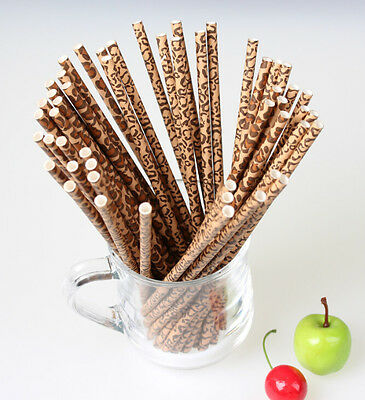 50x Leopard Series Paper Drinking Straws for Wedding Party Birthday Baby Shower