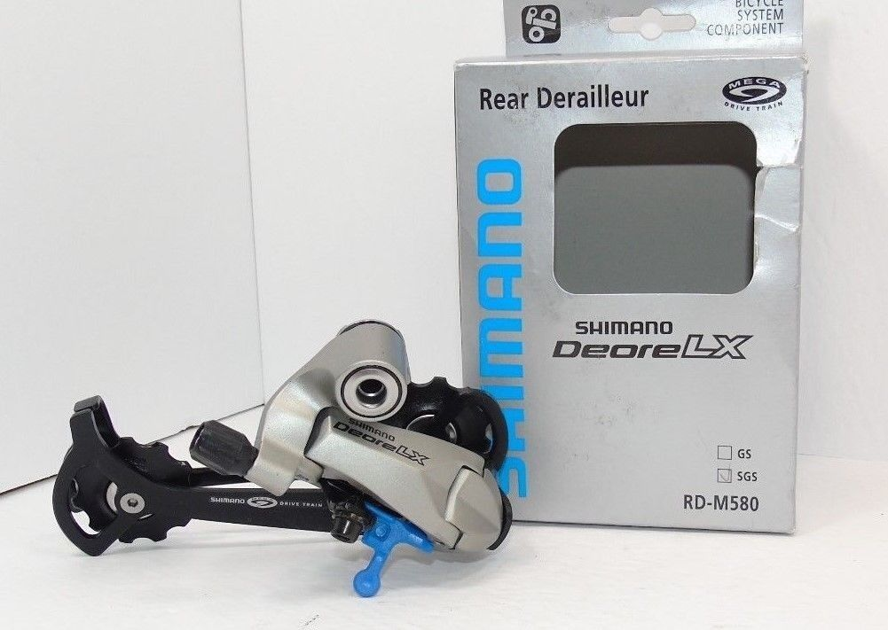Original Nos Shimano LX Rear Derailleur, RD-M580 SGS, 9 Speed, Brand New