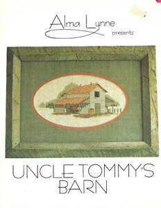 Alma-Lynne-UNCLE-TOMMY-039-S-BARN-1980-Vintage-Cross-Stitch-Pattern-Booklet