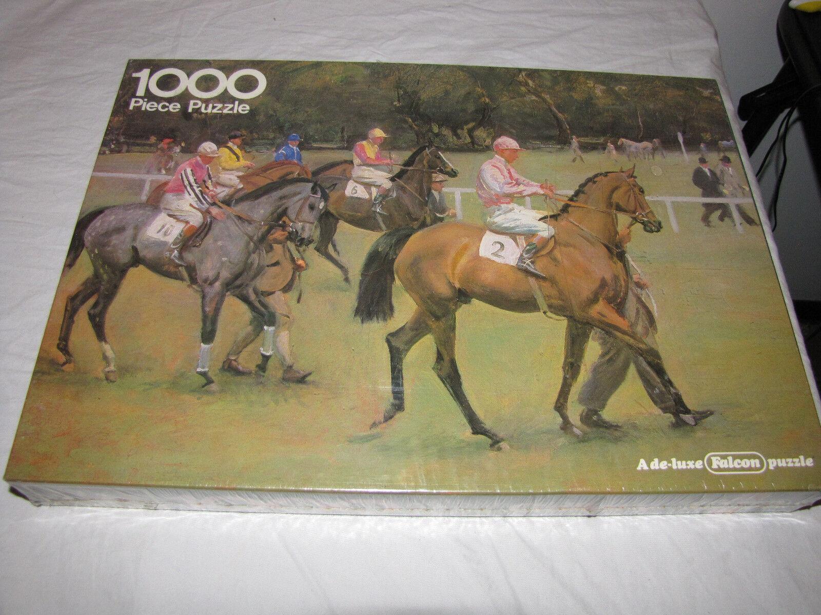 Vintage Going Out At Kempton 1000 Piece Puzzle -  Race Horses - Bre nuovo Rare  alla moda