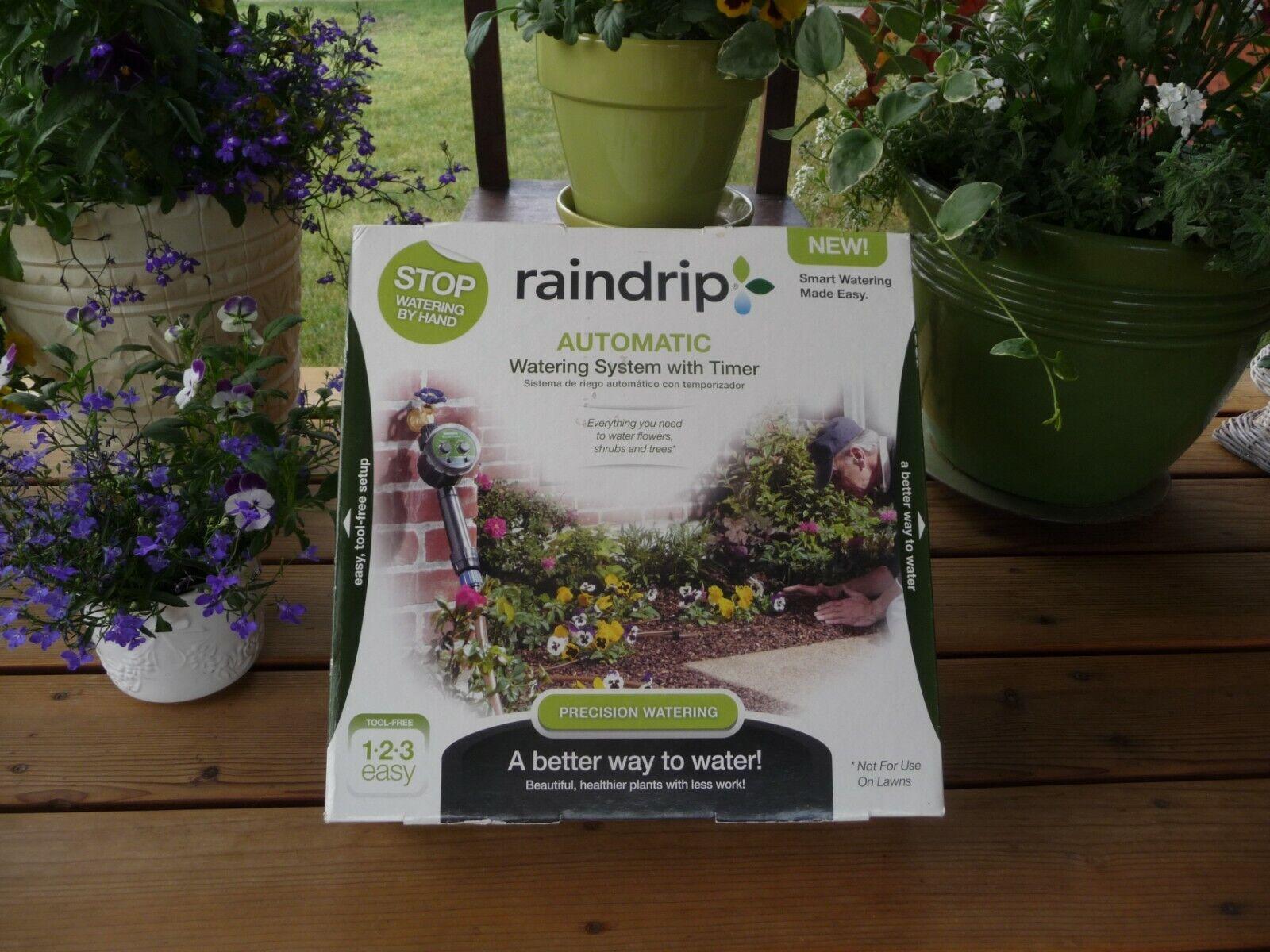 RAINDRIP AUTO WATERING SYSTEM - FLOWERS, TREES, SHRUBS W/TIMER - NEW