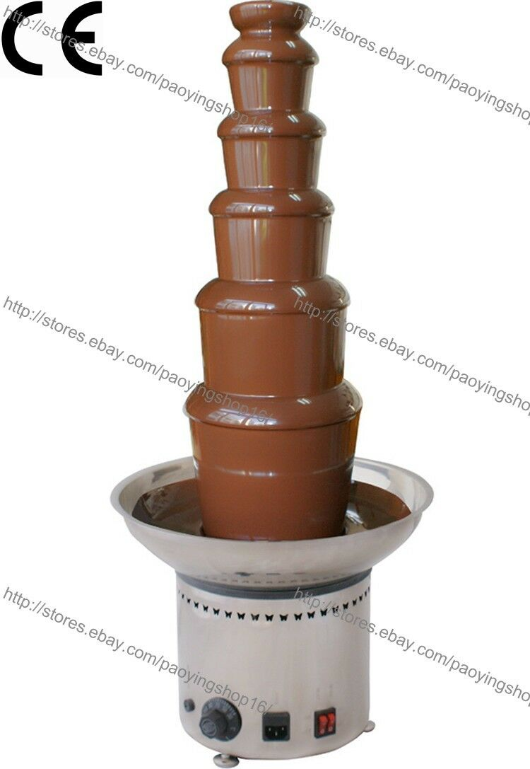 Stainless Steel Commercial Electric 82cm 6-Tier Party Chocolate Fondue Fountain