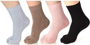 Womens Crew Sports Running Cycling Coolmax Cotton Five Finger 5 Toe Socks Purple