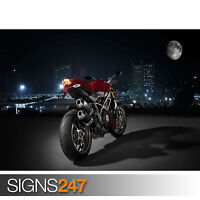 DUCATI SEXY BIKE (1563) Photo Poster Print Art A0 A1 A2 A3 A4 - 2nd HALF PRICE!
