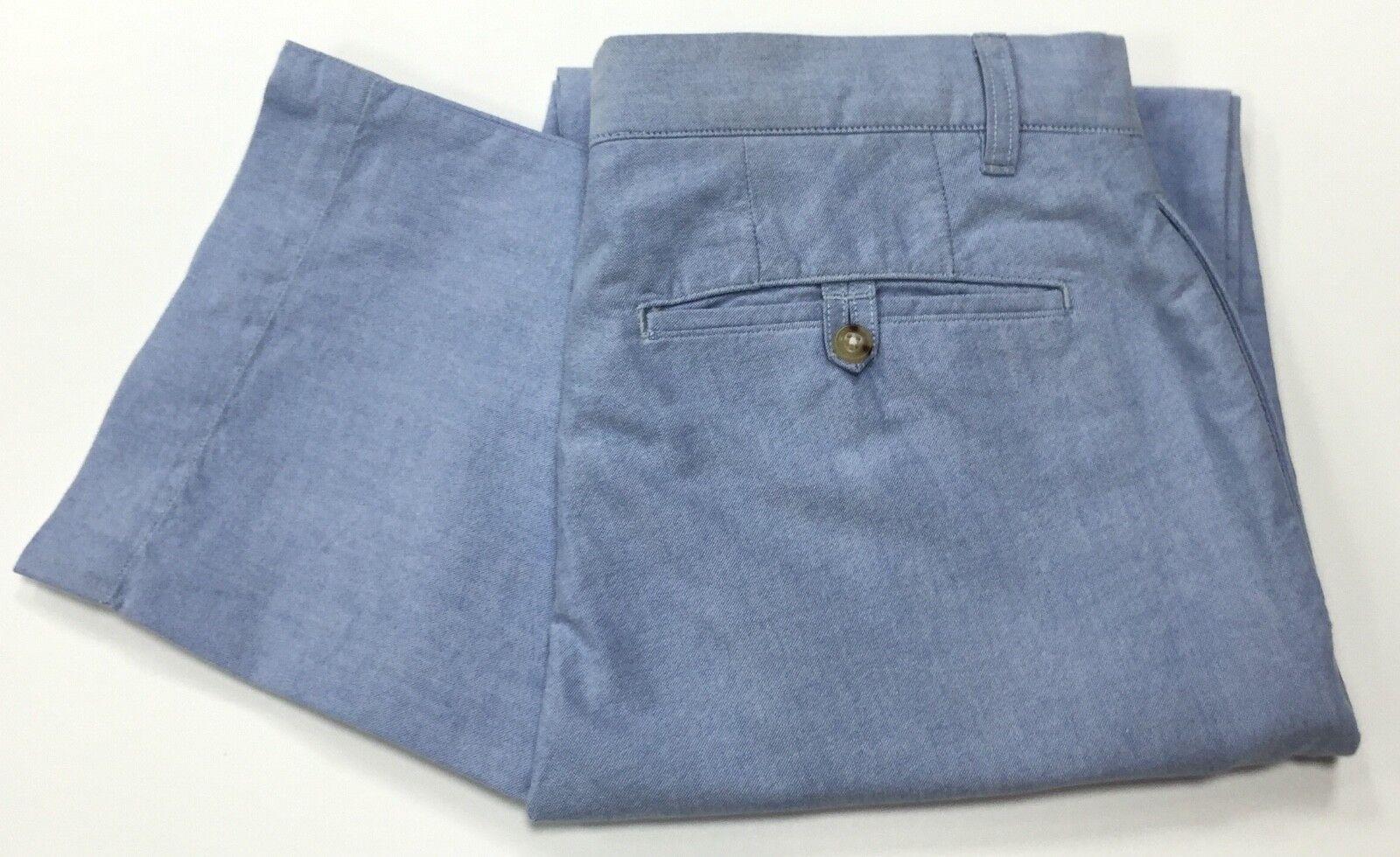 Ralph Lauren Classic fit Newport pants Oxford fabric sky bluee