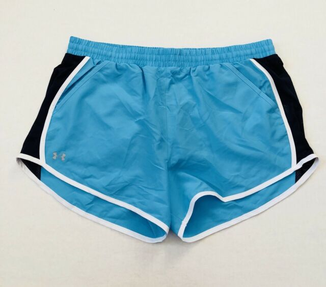 aae39758d126 Under Armour UA Women s Size XL Fly By Island Blue Athletic Running Shorts  NWT