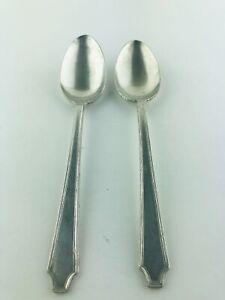 Simeon L & George H Rogers Oneida Kingston Silver Plate Ice Tea Spoons 1929 Rare