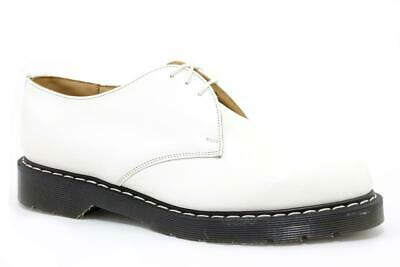 Solovair NPS Shoes Made in England 3 Eye Off White Shoe S018A-L3995WH