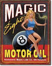Magic 8 Motor Oel USA Vintage Style Tankstellen Werkstatt Metall Deko Schild