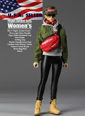 "1//6 Street Style Flight Jacket Set F-076 For 12/"" PHICEN Female Figure USA"