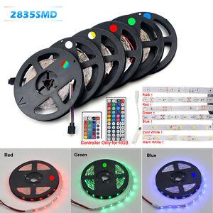 5M-2835-300SMD-RGB-Flexible-Tira-de-Luz-LED-24-44-Llave-mando-a-distancia-IR