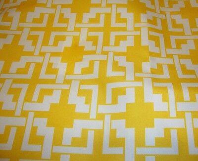 "Outdoor Upholstery Waterproof Canvas Yellow White Digital Print fabric yard 60"""