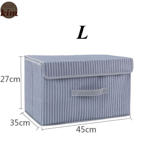 Foldable Storage Box Non-Woven Fabric Collapsible Home Collecting Cube Bag Multi