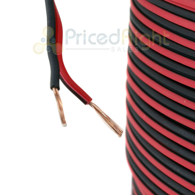 20 ft 8 Gauge Speaker Cable Car Home Audio 20/' Black and Red Zip Wire Audiopipe