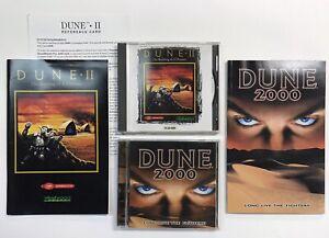 Dune-2000-DUNE-II-2-PC-game-LOT-CD-ROM-Westwood-studios-1998-1992-Windows-95-98