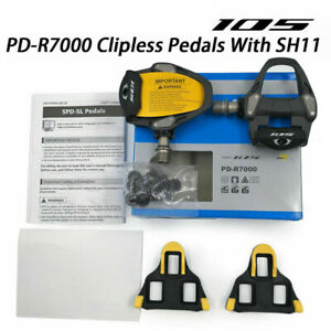 105-PD-R7000-SPD-SL-Road-Bicycle-Bike-Clipless-Pedals-w-SM-SH11-Cleats-MTB-Pair