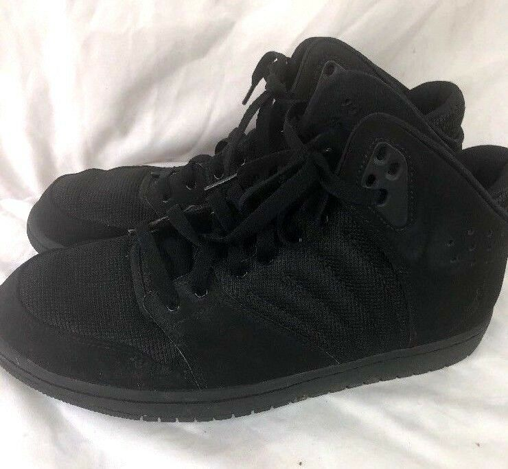 67e026099bca Nike Jordan Flight 4 4 4 black on black leather Sneakers Shoes men s size  10.5 8fd61b