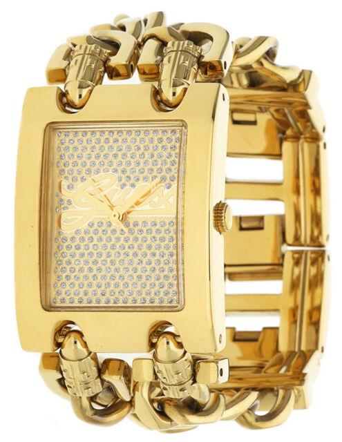 Guess Damen Armbanduhr gold EBW0313L2