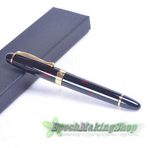 JINHAO-X450-FOUNTAIN-PEN-Dark-red-GOLDEN-M-NIB-free-shipping