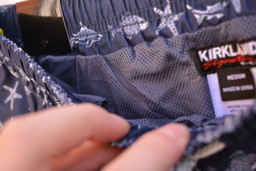 Kirkland Signature Men/'s Elastic Waistband Mesh Lined Swim Short Trunk S//M//L//XL