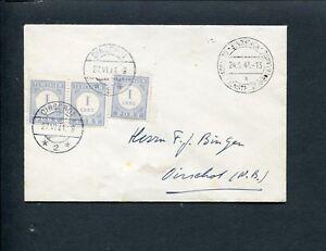 1941-DEUTSCHE-DIENSTPOST-NIEDERLANDE-EINDHOVEN-ongefr-env-gt-Oirschot-PORT-P-45