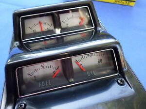 NEW-1968-1974-Nova-amp-Camaro-Silver-Face-Console-Gauge-Cluster-OER-GM-Licensed