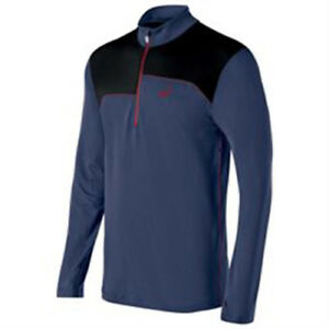 935962d4bb Asics Thermopolis 1/2 Zip Top (XL) Indigo Blue / Black | eBay