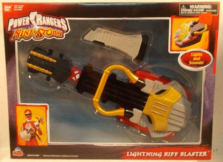 Power Rangers Ninja Storm - Lightning Riff Blaster Guitar Electronic Sounds MISB