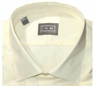 NEW-IKE-BEHAR-SOLID-ECRU-PALE-YELLOW-CLASSIC-FIT-DRESS-SHIRT-16-5-34-35