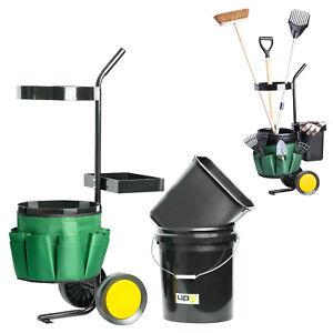 UPP-Garten-Werkzeug-Trolley-12-amp-20L-Eimer-Gartenwagen-Schubkarre-Geraetehalter