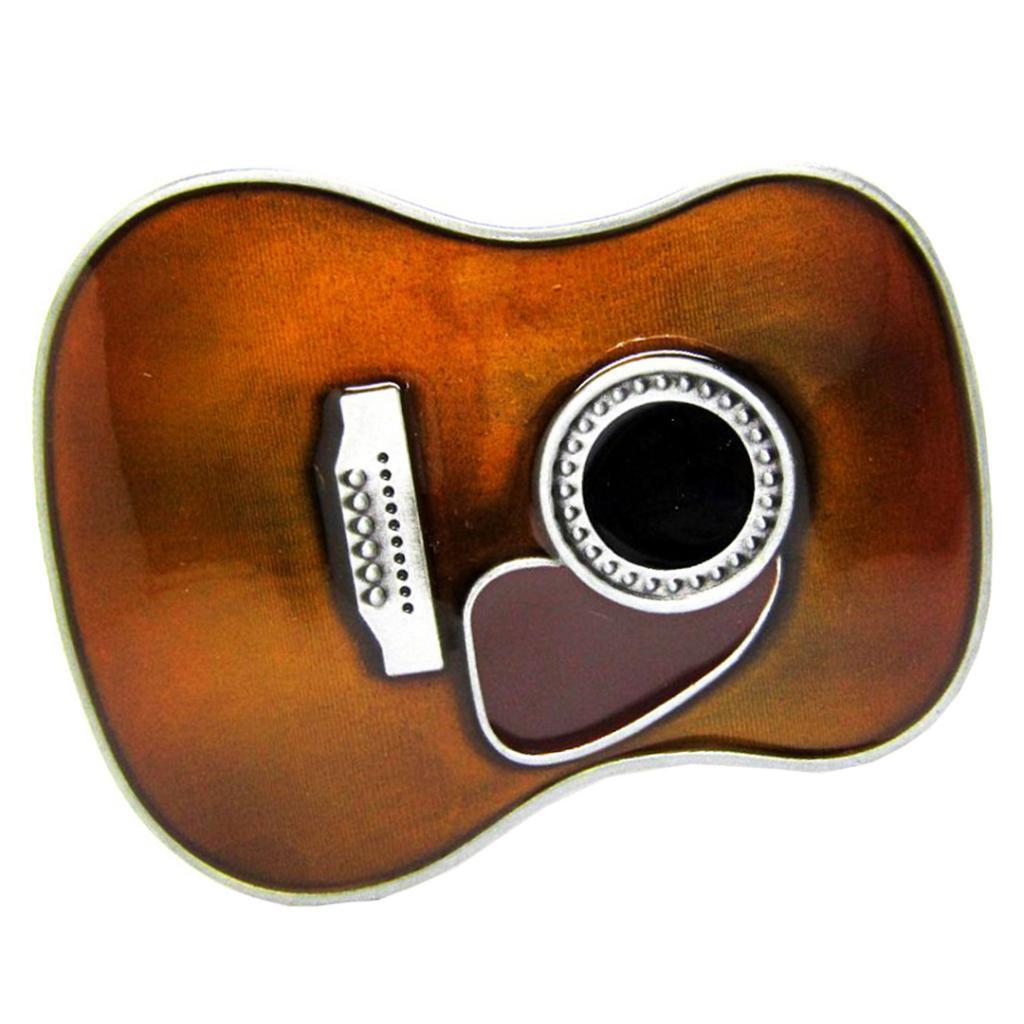 Music Guitar Body Belt Buckle Zinc Alloy Metal Country Western Classic