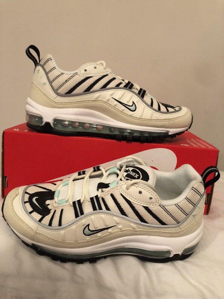 Nike Womens Air Max 98 Sail Igloo Fossil Sz 8.5 AH6799 105 Wmns New 97 95 90 1