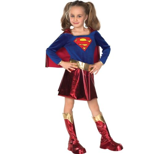 Halloween Supergirl Costume Girls Super Hero Fancy Dress Up Outfit