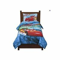 DISNEY PIXAR CARS Lightning McQueen FULL COMFORTER SHEETS 5 PC- new