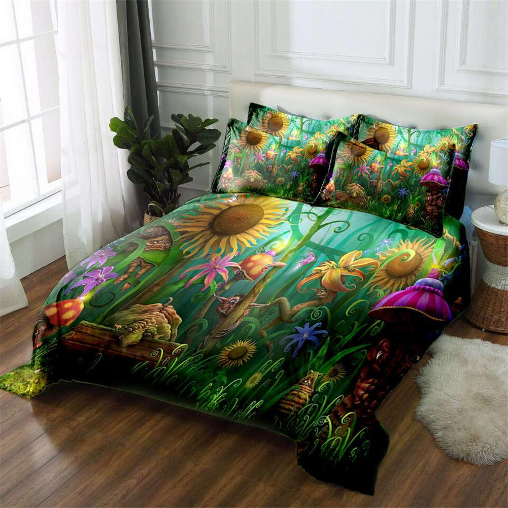 Uncanny Sunflower 3D Printing Duvet Quilt Doona Covers Pillow Case Bedding Sets