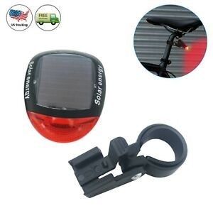Solar Powered Bicycle Bike Rear Back Safety Light 3 Tail LED Rot/_ Lamp W5C1
